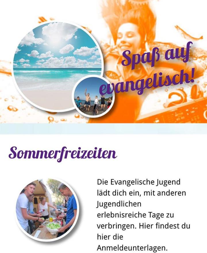 Das Freizeitportal der Evangelischen Kirche